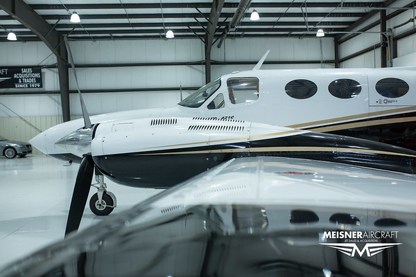 Cessna 421 C N421LQ (High Res w/Logo)