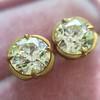 2.23ctw Old European Cut Diamond Stud Earrings 3