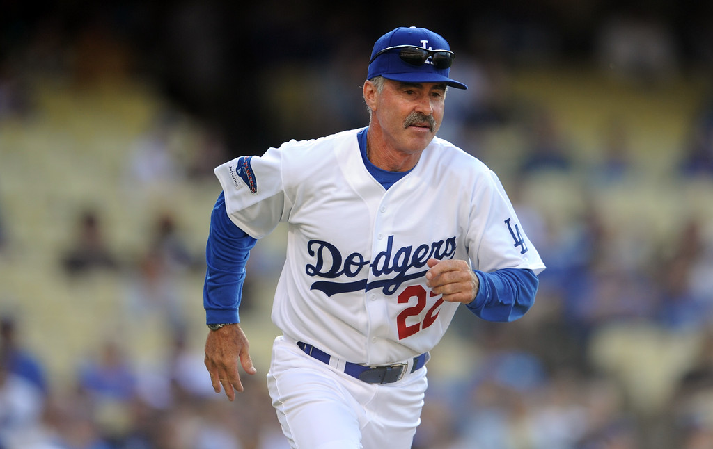 . Former Los Angeles Dodgers Bill Buckner during the Old-Timers game prior to a baseball game between the Atlanta Braves and the Los Angeles Dodgers on Saturday, June 8, 2013 in Los Angeles.   (Keith Birmingham/Pasadena Star-News)