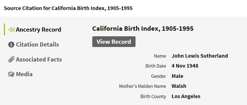 1948 birth John Lewis Sutherland LA CA.JPG