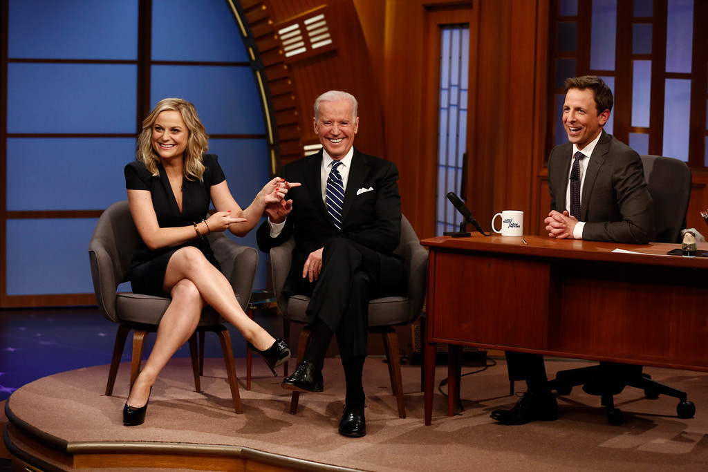 ". <p>5. SETH MEYERS <p>Opened his late night show with Joe Biden? What? Was Dan Quayle not available? (unranked) <p><b><a href=\'http://www.thedailybeast.com/articles/2014/02/25/seth-meyers-gets-off-to-a-rocky-start-on-late-night.html\' target=""_blank\""> HUH?</a></b> <p>    (AP Photo/NBC, Peter Kramer)"