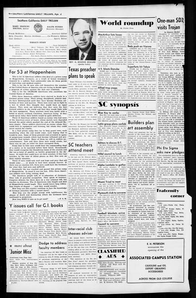 Daily Trojan, Vol. 36, No. 91, April 02, 1945