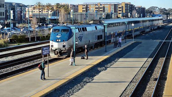 Amtrak Rail Photos at Emeryville, CA, Station