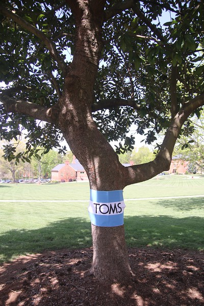 On Wednesday, April 6th, Release the Captive hosted the TOMS Day without Shoes Event and decorated the campus.