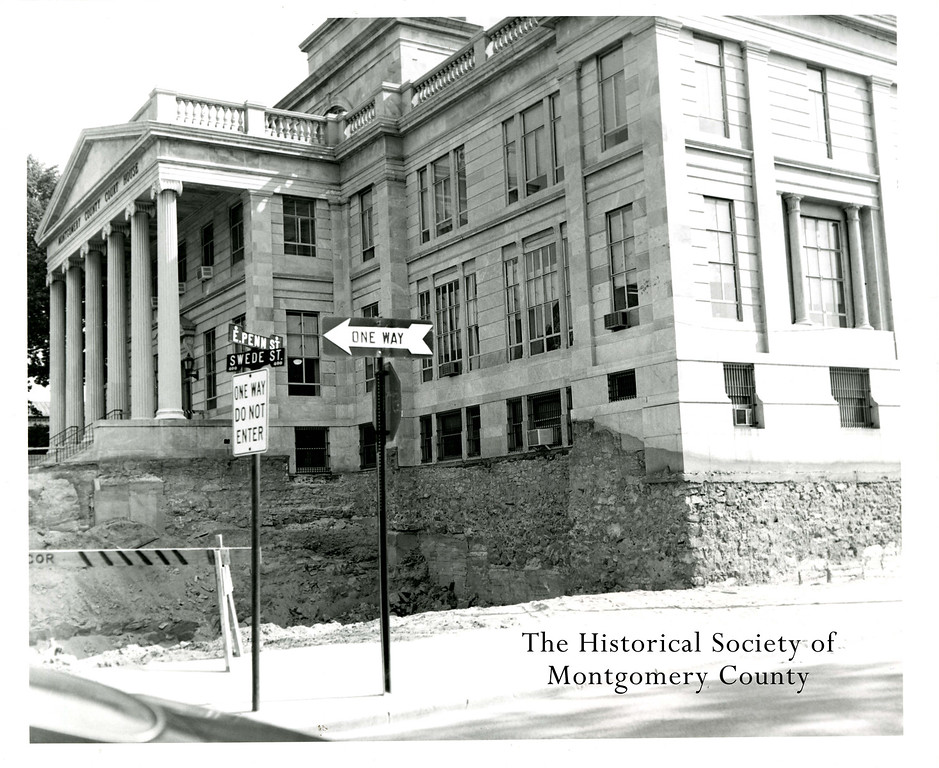 . This photo from the Historical Society of Montgomery County shows the construction of the Montgomery County Courthouse annex around 1968.