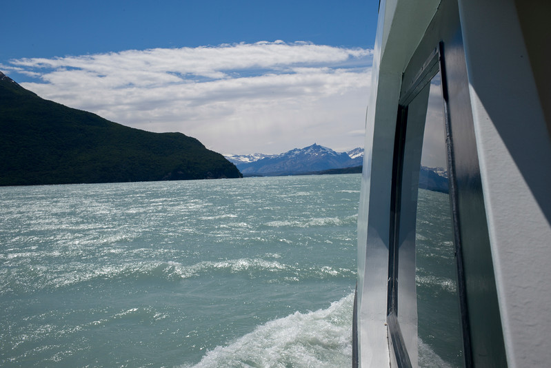 Tourboat in the Lake Argentino, Los Glaciares National Park, Santa Cruz Province, Patagonia, Argentina