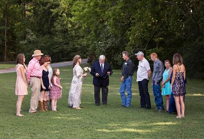 outdoor wedding near Huntsville, AL