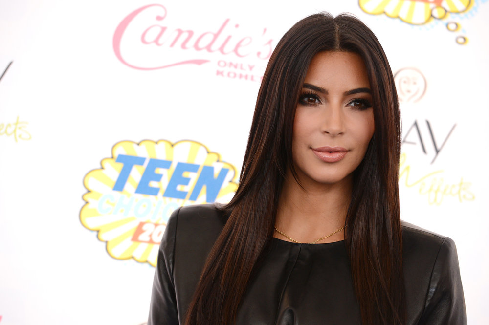 . Kim Kardashian arrives at the Teen Choice Awards at the Shrine Auditorium on Sunday, Aug. 10, 2014, in Los Angeles. (Photo by Jordan Strauss/Invision/AP)
