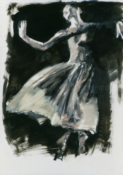 Study for White Skirt on Black (2003)