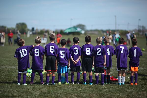 U10 Soccer- Team Purple