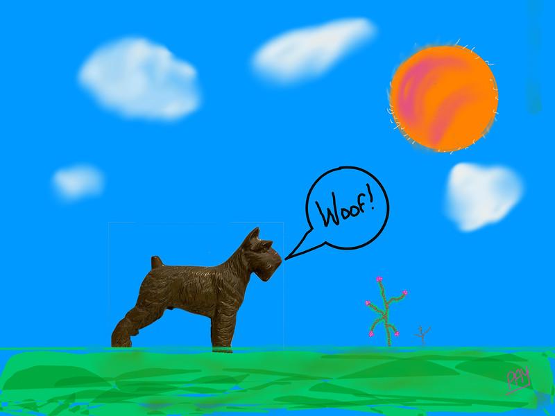 Boy Says Woof