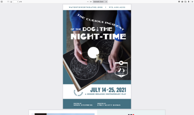 7-24-2021 Curious Incident Dog Nighttime @ WaterTower Theatre