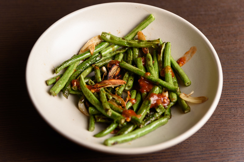 long beans with garlic and chili