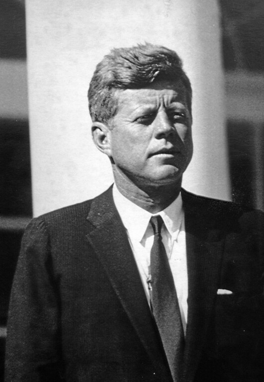 . JFK in October 1963 at the White House, a month prior to his assassination.