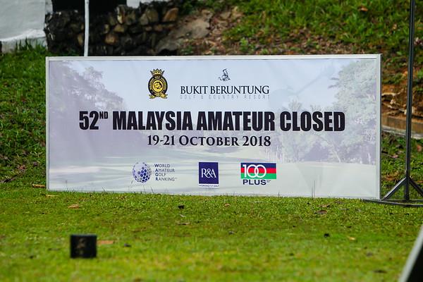 52ND MALAYSIA AMATEUR CLOSED