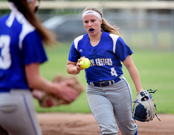 5/30/2019 Mike Orazzi | Staff Bristol Eastern's Alison Tellier (4) during the Class L Second Round softball game in Bristol Thursday.
