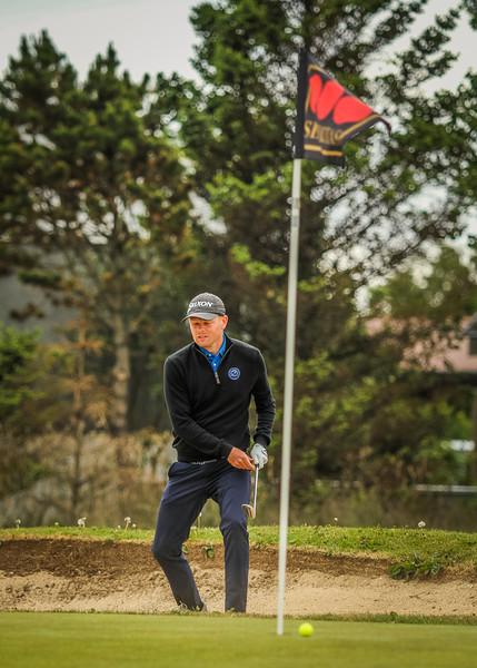 Ólafur Björn Loftsson, GKG, við 13. flöt Mynd/seth@golf.is
