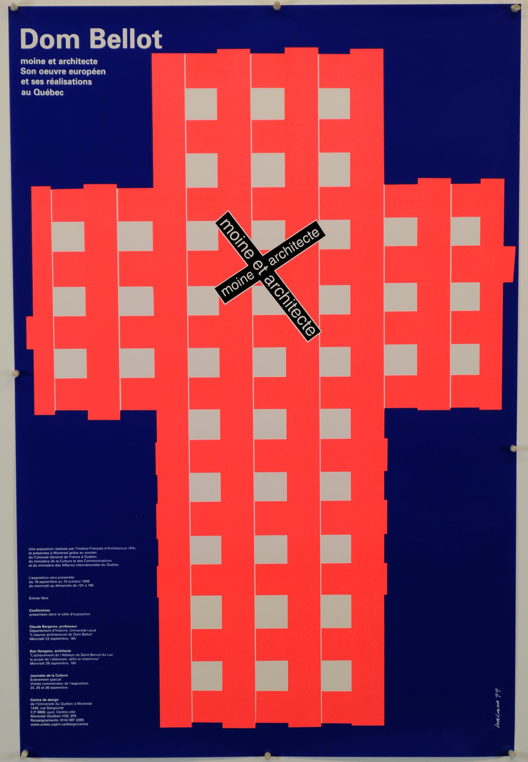 1999 - Exposition - Dom Bellot moine et architecte Son oeuvre européen et ses réalisation au Québec ©Alfred Halassa