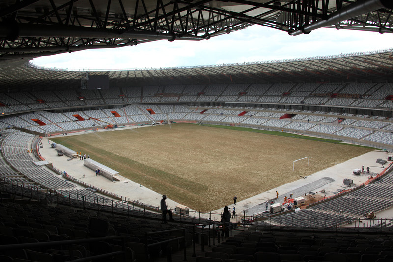 "The ""Mineirao"" stadium in Belo Horizonte, Brazil. The stadium is site of both the Confederations Cup 2013 and World Cup 2014. (Australfoto/Douglas Engle)"