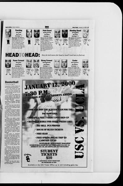 Daily Trojan, Vol. 139, No. 2, January 12, 2000