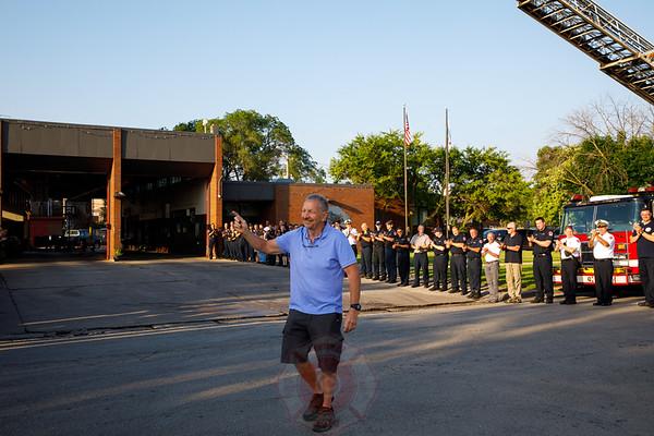 C.F.D. Chief Wojtecki Final Walk Out Battalion 18