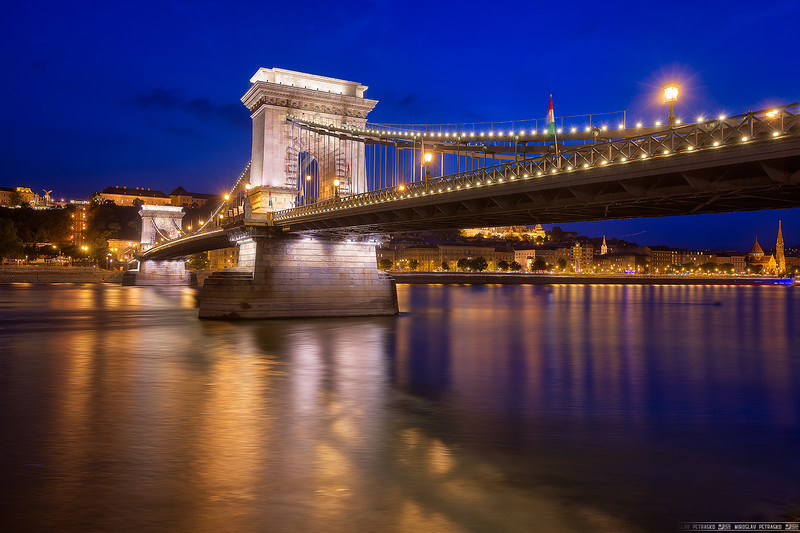 Blue hour and the Chain Bridge
