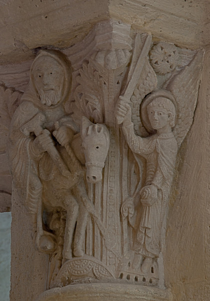 Saulieu Abbey of Saint-Androche Capital, Balaam and His Donkey