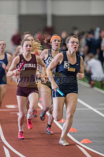 WHAC Indoor Track 2017 - 4 x 800 Relay Women