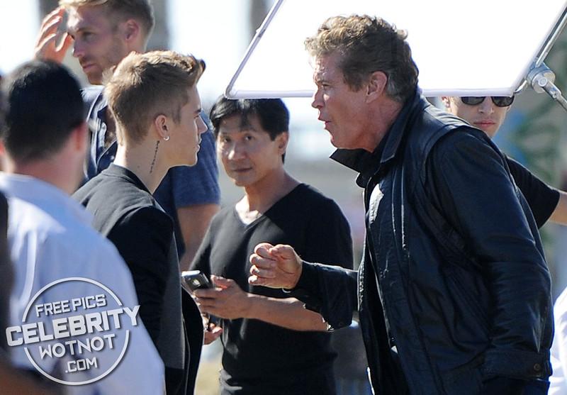 Justin Bieber Plays Knight Rider's KITT in Killing Hasselhoff!