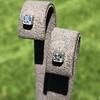 .54ctw Asscher Cut Diamond Bezel Stud Earrings, Platinum 0