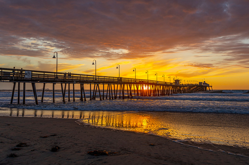 Short-Lived Amazing Sunset At The Imperial Beach Pier