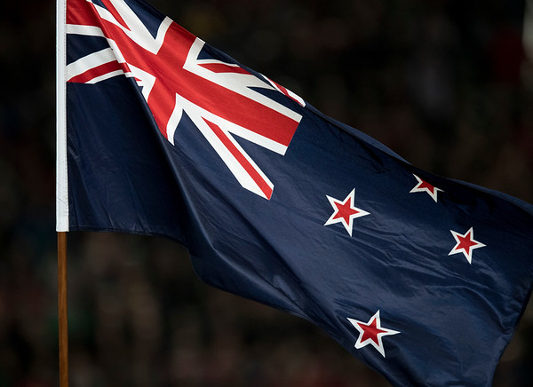 Kiwi Flag during game 7 of the British and Irish Lions 2017 Tour of New Zealand, the first Test match between  The All Blacks and British and Irish Lions, Eden Park, Auckland, Saturday 24th June 2017 (Photo by Kevin Booth Steve Haag Sports)  Images for social media must have consent from Steve Haag