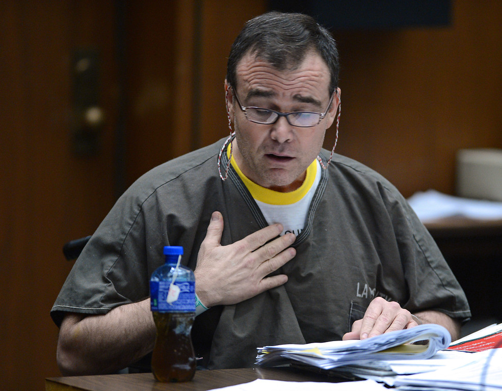 . David Viens received a sentence of 15 years to life for the killing of his wife Dawn Viens on Friday, 3/22/13, in the downtown superior courtroom of Judge Rand S. Rubin. Photo by Brad Graverson/LANG