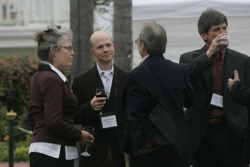 (L-R) Sally Anderson, Max Christoff, Bill Janeway, and Russ Daggatt