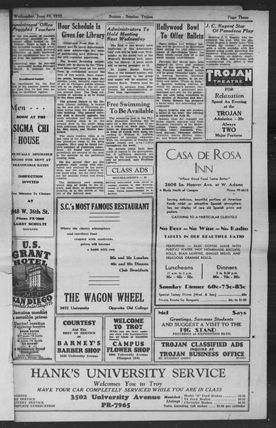 Summer Session Trojan, Vol. 14, No. 1, June 19, 1935