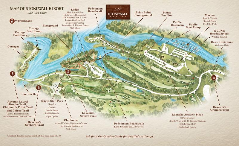 Stonewall Resort State Park (Resort Map)
