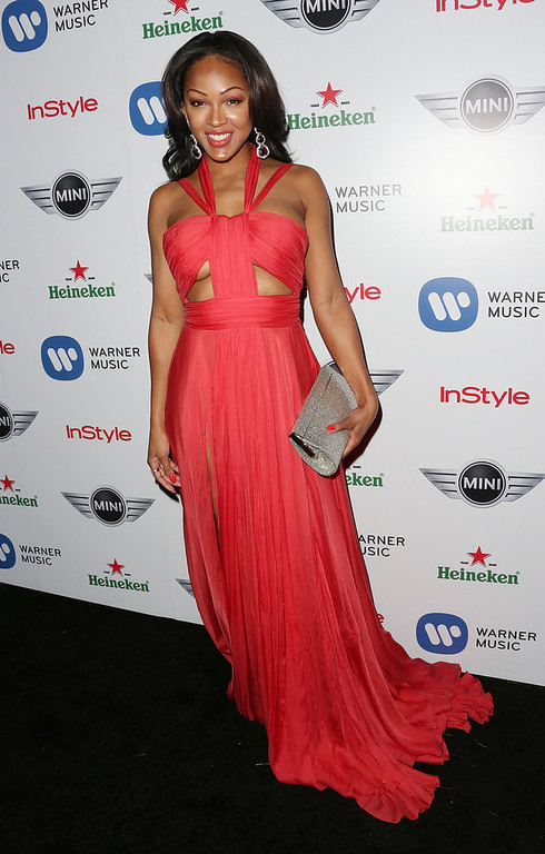 . Actress Meagan Good attends Warner Music Group\'s 2013 Grammy Celebration at Chateau Marmont\'s Bar Marmont on February 10, 2013 in Hollywood, California.  (Photo by Frederick M. Brown/Getty Images)