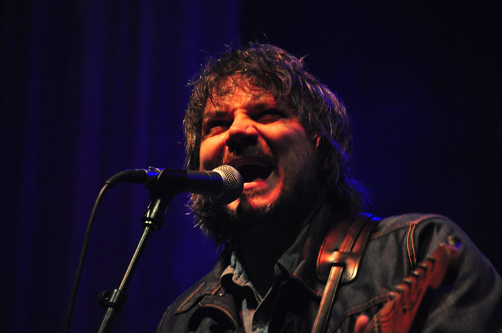 . Jack Guerino/ North Adams Transcript Jeff Tweedy, singer and guitar player of Wilco, performs on the main stage at the Solid Sound Festival Saturday night.