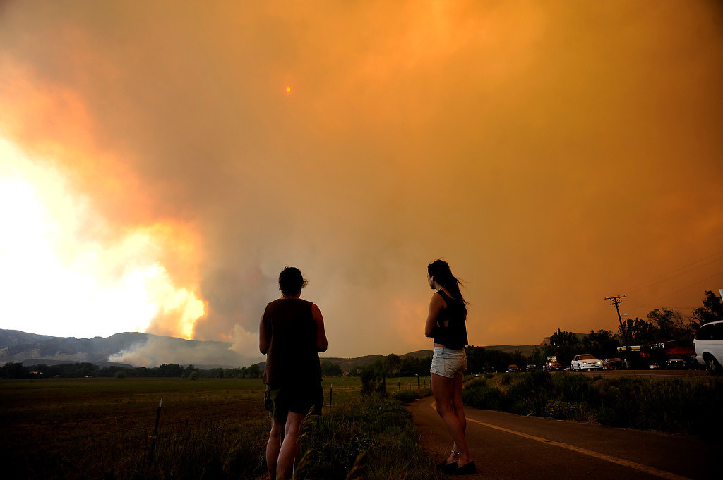 . The High Park fire northwest of Fort Collins continues to burn today June 10th, 2012.  The fire is now estimated at over 14,000 acres and still zero percent containment. Helen H. Richardson, The Denver Post