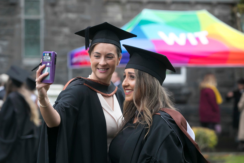 31/10/2018. Waterford Institute of Technology (WIT) Conferring Ceremonies 2018. Pictured are Emer Kelly from Tramore and Jordan Cheasty from Waterford. Picture: Patrick Browne