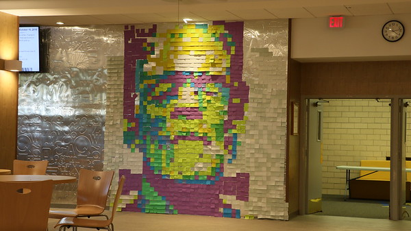 10-12-18 post it mural frankenstein
