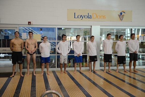 2017 Loyola Swimming - 01-24-2016 - Senior Day
