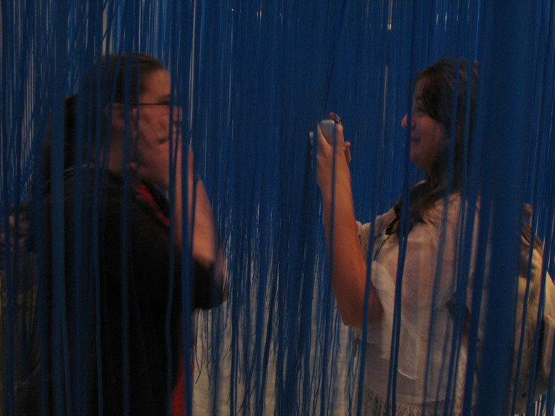 LaLissa and Abby ... Finding each other in the blue stringy stuff