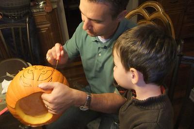 Pumpkin carving Oct. 19, 2011