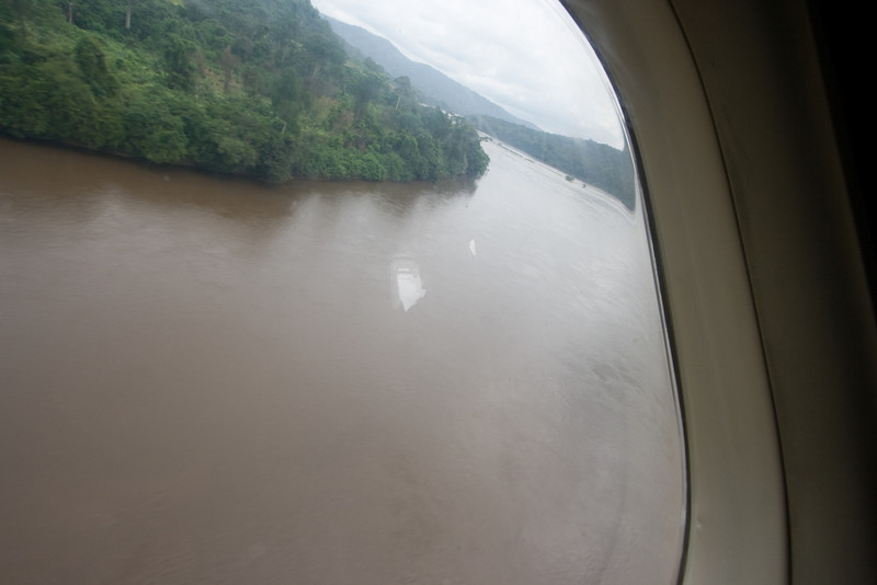 Low flying over the Ogooue River.