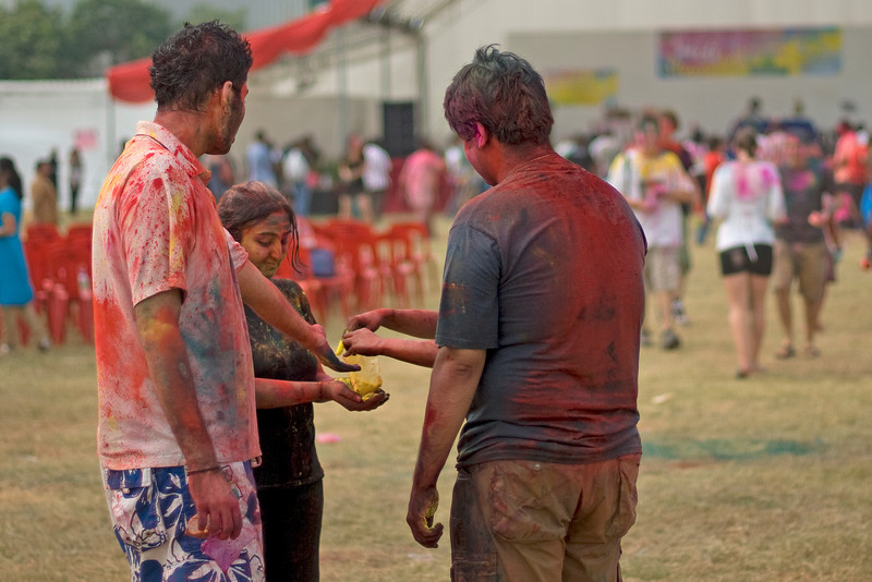 Local participants at Singapore Holi Festival