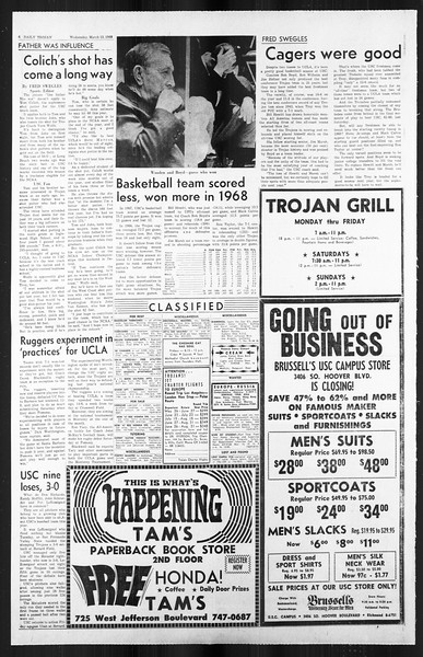 Daily Trojan, Vol. 59, No. 89, March 13, 1968