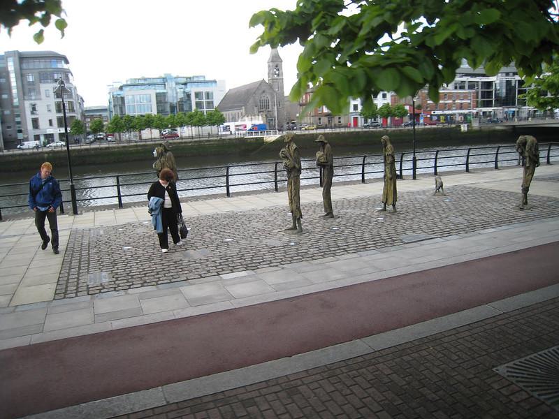 Famine Memorial, Custom House Quay, Dublin