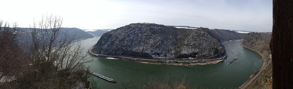 Panoramic image of the Upper Middle Rhine River Valley