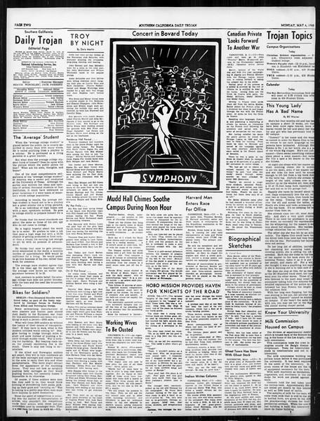 Daily Trojan, Vol. 31, No. 138, May 06, 1940